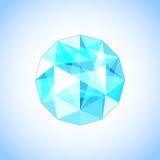 Topázio realístico dado forma gem Ilustração do vetor Imagem de Stock Royalty Free