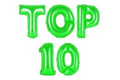 Top 10, πράσινο χρώμα Στοκ Φωτογραφίες