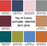 Top 10 χρωματίζει φθινόπωρο-Winte το 2017 - το 2018 Διανυσματική απεικόνιση