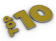 Top 10. Nice render of Top 10 Royalty Free Stock Photo