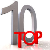 Top 10. Concept isolated on white Stock Image