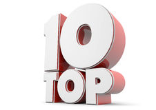 Top 10. Render of a text showing top 10 Stock Images