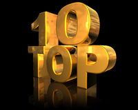 Top 10. Symbol of success, 3d generated Stock Photography