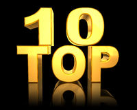 Top 10. Symbol of success, 3d generated Stock Photo