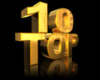Top 10. Symbol of success, 3d generated Royalty Free Stock Photo