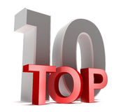 Top 10. 3D concept. Isolated on white Royalty Free Stock Image