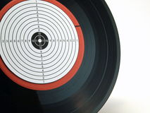 TOP 10. Old vinyl disk on a white background Royalty Free Stock Images