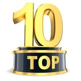 Top 10 award. Top 10 of the year (done in 3d Stock Image