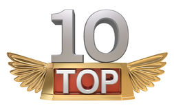 Top 10 concept. 3D isolated on white Royalty Free Stock Images