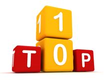Top 10 cubes. 3d illustration Royalty Free Stock Image