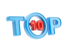 Top-10 emblem symbol isolated Royalty Free Stock Photography