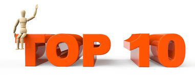 Top 10 sign with dummy Stock Image