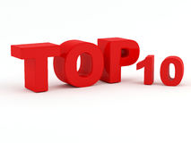 Top 10 - Top ten. Isolated on white background Royalty Free Stock Photo