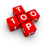 Top 100. (from crossword series Stock Photography
