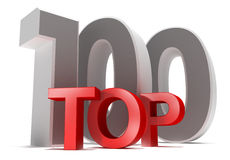 Top 100. 3D concept isolated on white Stock Image