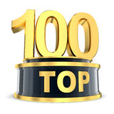 Top 100 award. Top 100 of the year (done in 3d Stock Image