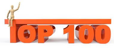 Top 100 sign with dummy Royalty Free Stock Photos