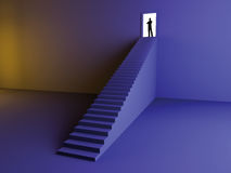 On the Top. 3D rendered Illustration. Reaching the top stock illustration