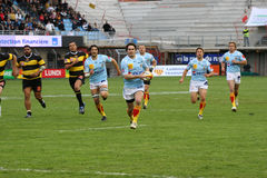 Top 14 rugby match USAP vs Albi Royalty Free Stock Photography