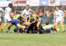 Top 14 rugby match USAP vs ASM Stock Image