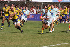 Top 14 rugby match USAP vs ASM Stock Photos