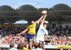 Top 14 rugby match USAP vs ASM Royalty Free Stock Image