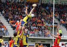 Top 14 rugby match USAP vs ASM Clermont Royalty Free Stock Photography