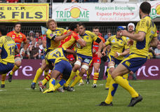 Top 14 rugby match USAP vs ASM Clermont Stock Photos