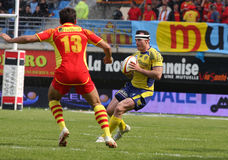 Top 14 rugby match USAP vs ASM Clermont Royalty Free Stock Image