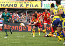 Top 14 rugby match USAP vs ASM Clermont Royalty Free Stock Photo