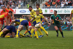 Top 14 rugby match USAP vs ASM Clermont Stock Images