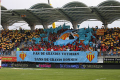 Top 14 rugby match USAP vs ASM Clermont Auve Stock Images