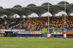 Top 14 rugby match USAP vs ASM Clermont Auve Royalty Free Stock Photo
