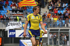 Top 14 rugby match USAP vs ASM Clermont Auve Stock Image