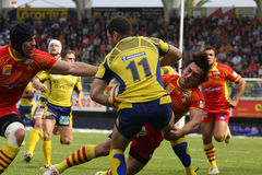 Top 14 rugby match USAP vs ASM Clermont Auve Royalty Free Stock Photography