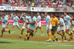 Top 14 rugby match USAP vs Bayonne Stock Image