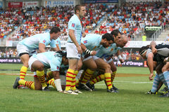 Top 14 rugby match USAP vs Bayonne Stock Photography