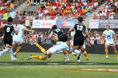 Top 14 rugby match USAP vs Bayonne Stock Photos