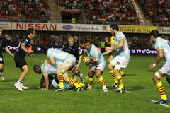 Top 14 rugby match USAP vs CA Brive Royalty Free Stock Photos