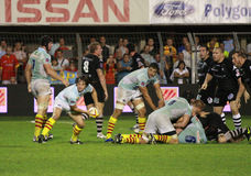 Top 14 rugby match USAP vs CA Brive Royalty Free Stock Image