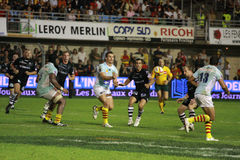 Top 14 rugby match USAP vs CA Brive Stock Images
