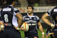 Top 14 rugby match USAP vs Castres Stock Image