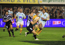 Top 14 rugby match USAP vs Castres Royalty Free Stock Image