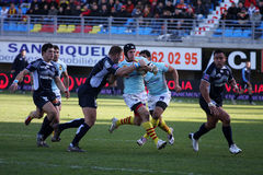 Top 14 rugby match USAP vs Castres Royalty Free Stock Photo