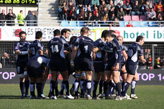 Top 14 rugby match USAP vs Castres Stock Photo
