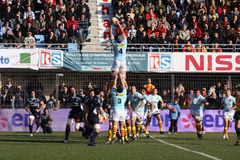 Top 14 rugby match USAP vs Castres Royalty Free Stock Images