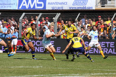 Top 14 rugby match USAP vs Clermont Stock Images