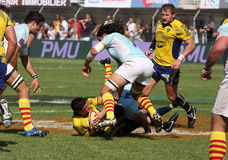Top 14 rugby match USAP vs Clermont Stock Photography