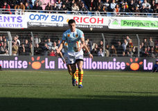 Top 14 rugby match USAP vs Leicester Stock Photography