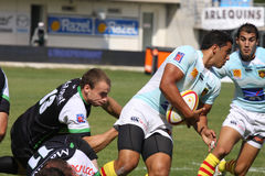 Top 14 rugby match USAP vs Montauban Stock Images